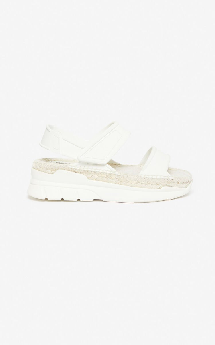 WHITE K-Lastic sandals for unisex KENZO