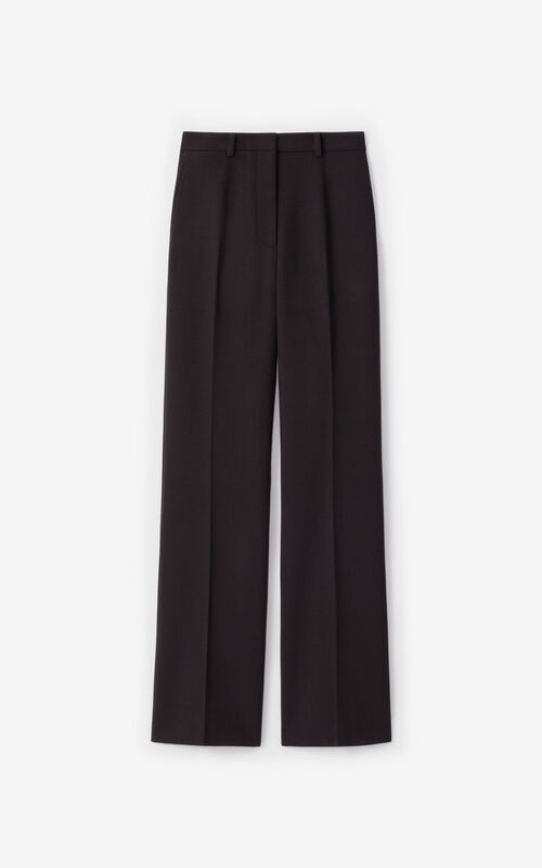DARK BROWN Flared trousers for unisex KENZO