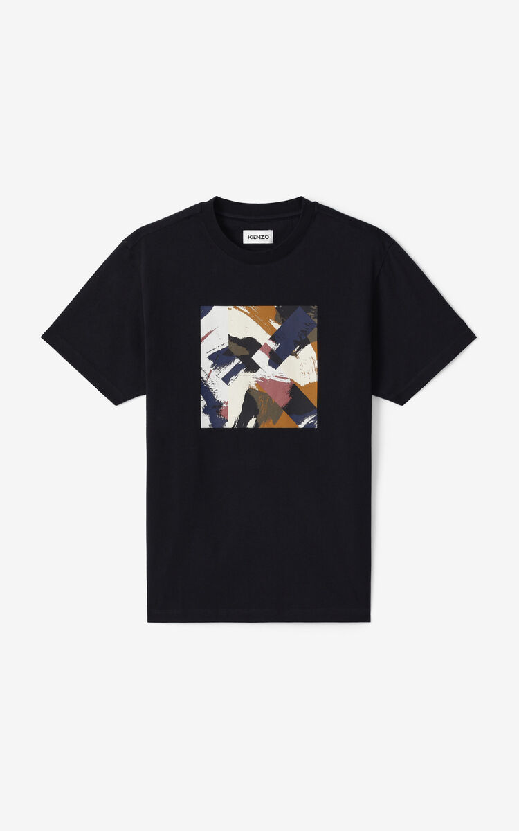BLACK K Logo t-shirt for unisex KENZO