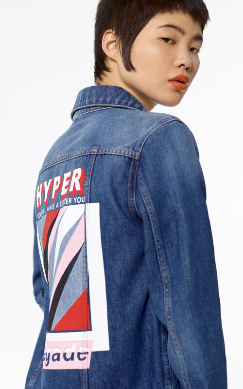 NAVY BLUE 'Hyper KENZO' denim jacket for women