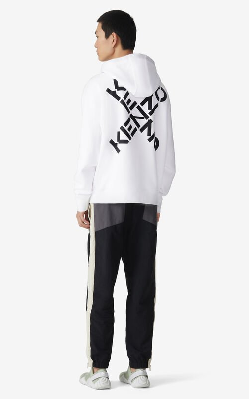 WHITE KENZO Sport 'Triple X' hoodie sweatshirt for men
