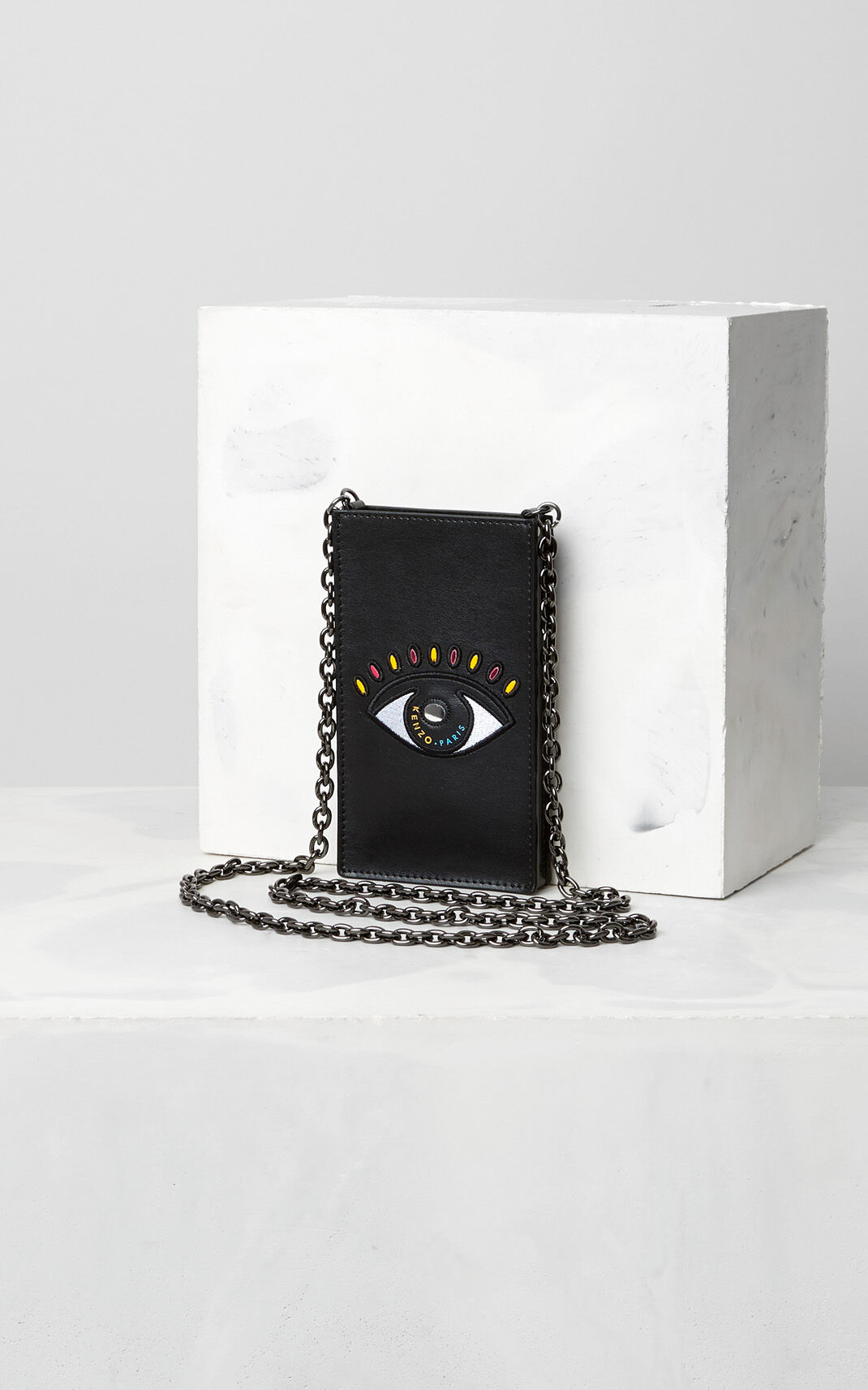BLACK Eye Phone Holder on Chain for women KENZO