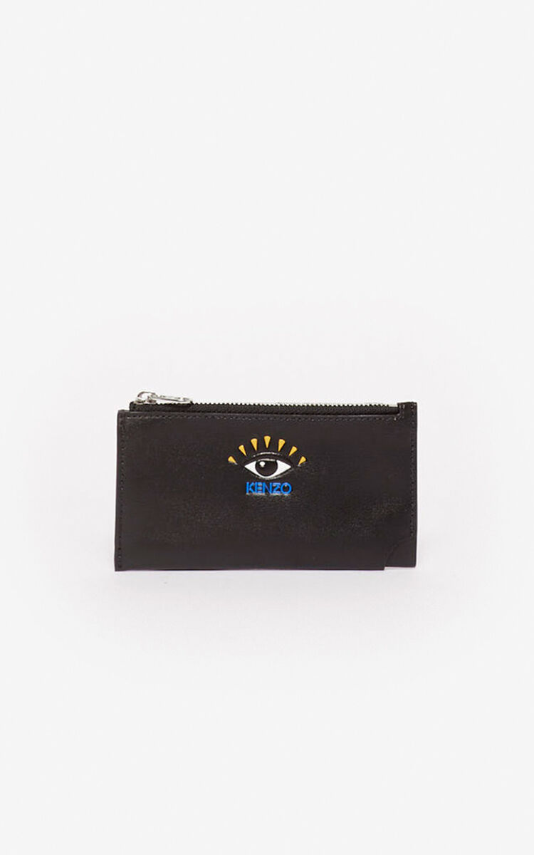 BLACK Zipped Eye cardholder for men KENZO
