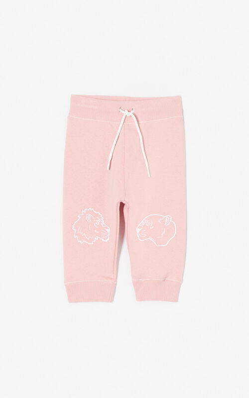 FLAMINGO PINK 'Fantastic Jungle' joggers for women KENZO