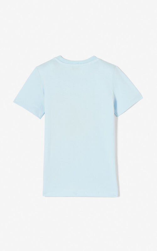 LIGHT BLUE Tiger t-shirt for men KENZO