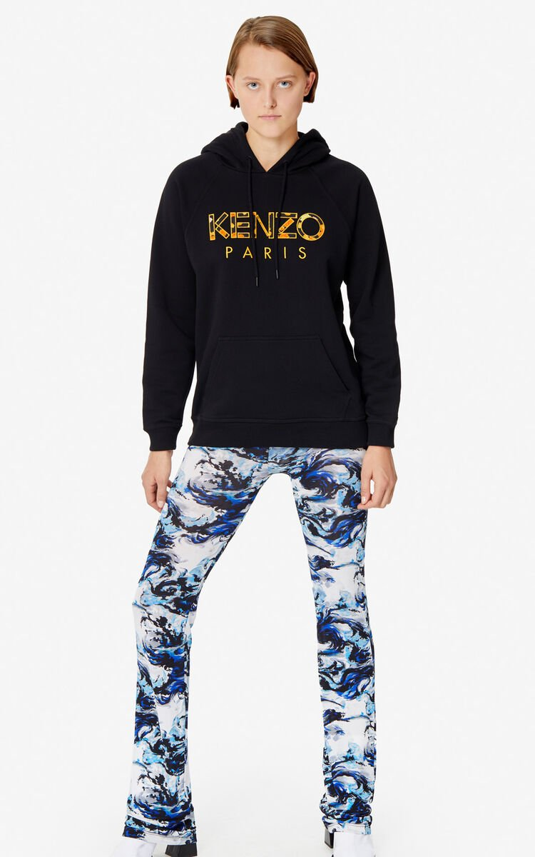 BLACK KENZO Paris hoodie for women