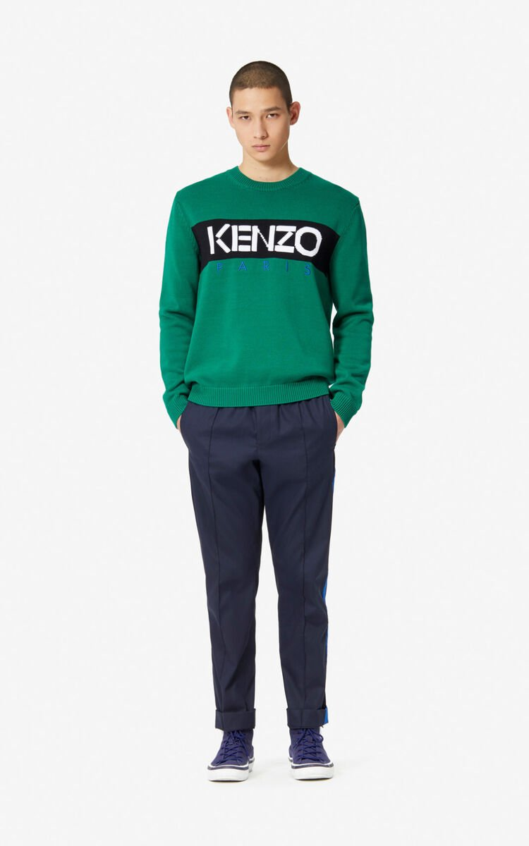 MIDNIGHT BLUE Twill trousers for men KENZO