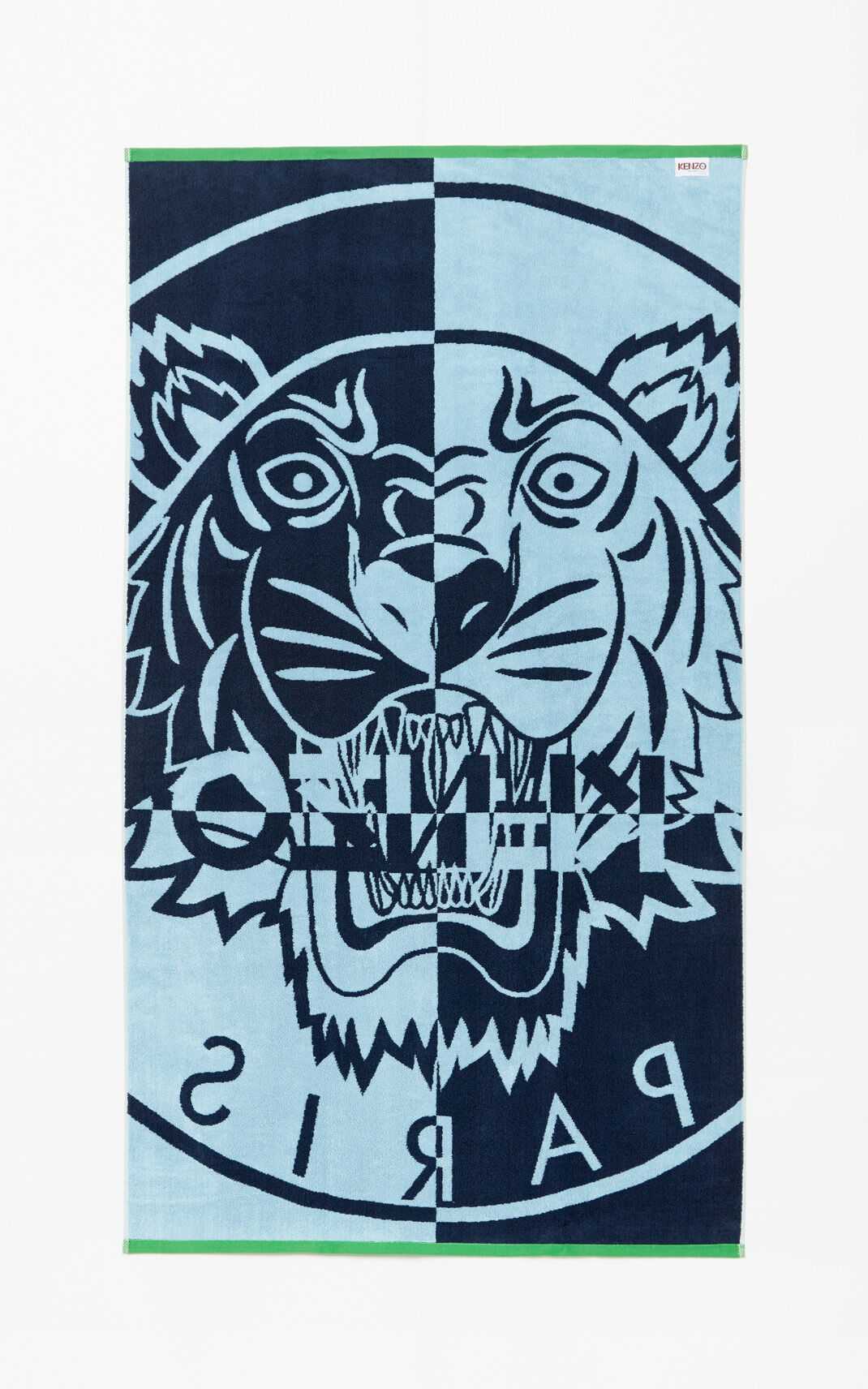 BLUE Tiger beach towel for unisex KENZO