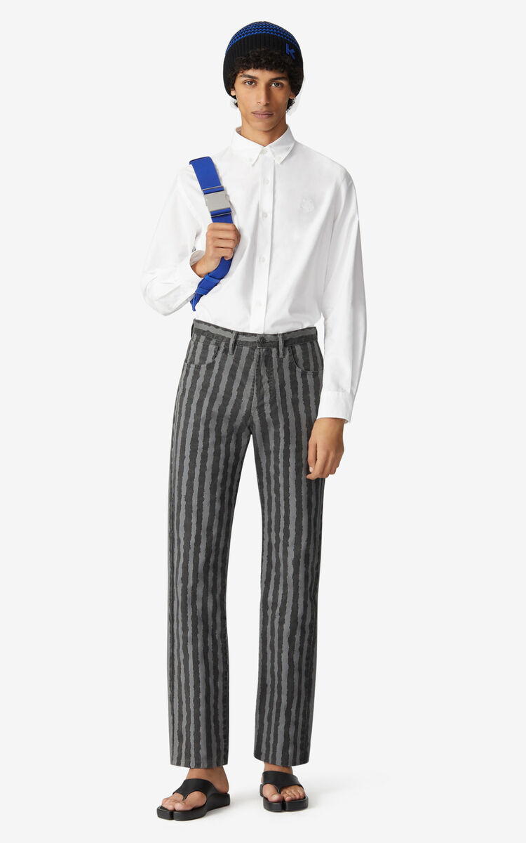 ANTHRACITE Striped jeans for men KENZO