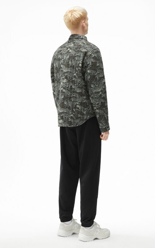 LIME TEA 'Archive Leopard' quilted shirt for men KENZO
