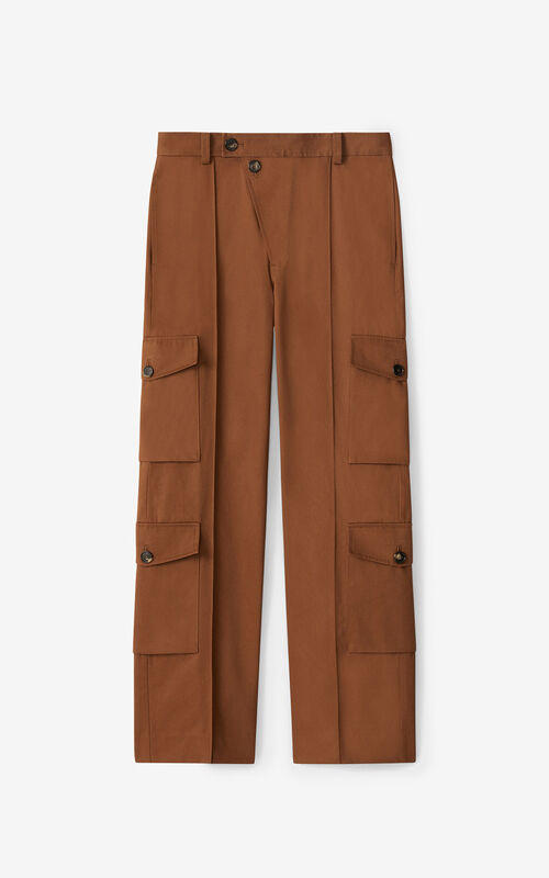 MOROCCAN BROWN Cargo trousers for unisex KENZO