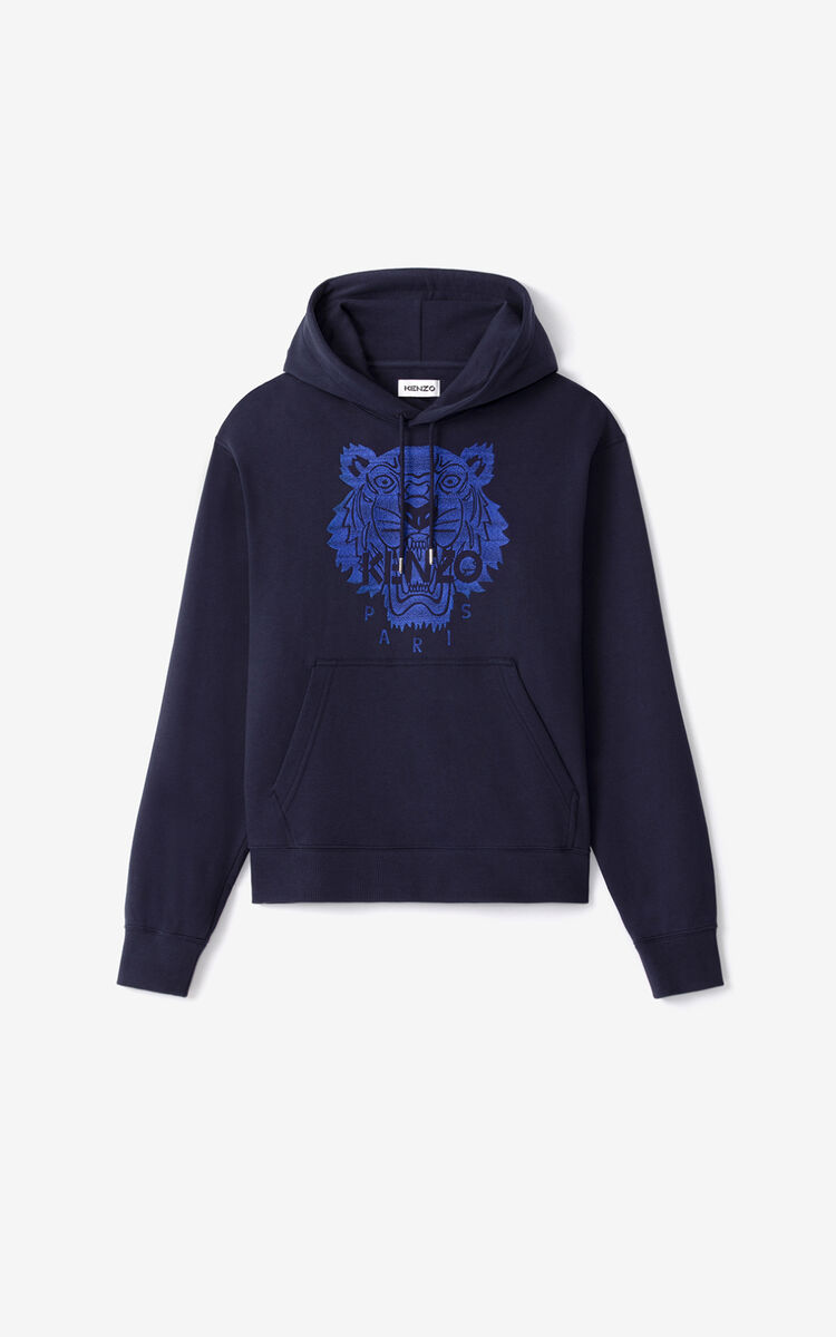 NAVY BLUE Tiger hoodie for women KENZO