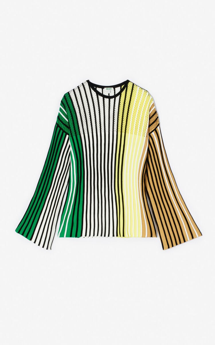 MULTICOLOR Multicoloured pleated top for women KENZO
