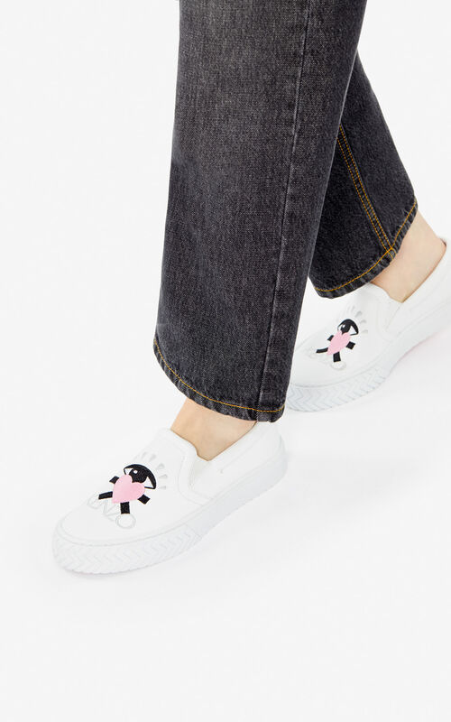 WHITE 'Cupid' K-Skate slip-on shoes for women KENZO