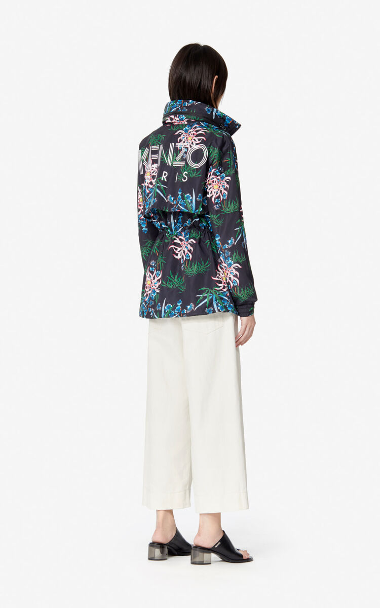 BLACK Sea Lily' windbreaker for women KENZO