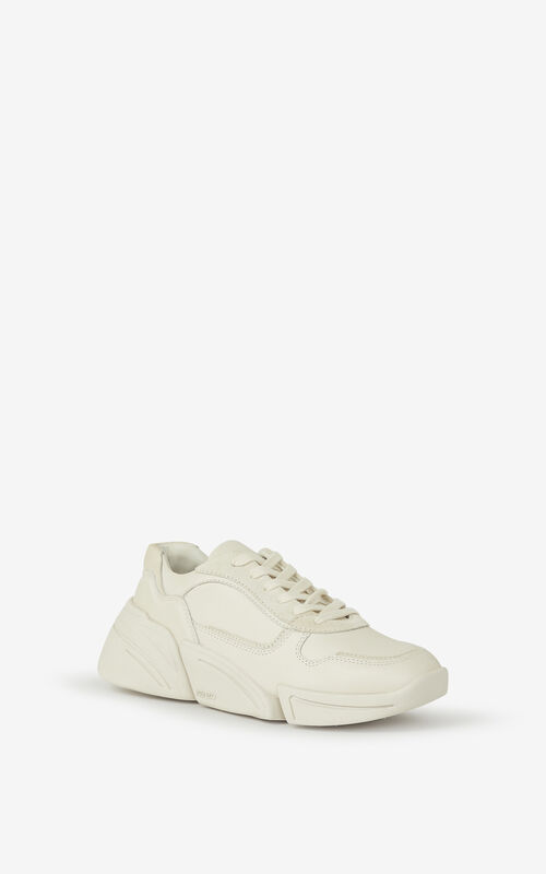 ECRU Kross leather trainers for unisex KENZO