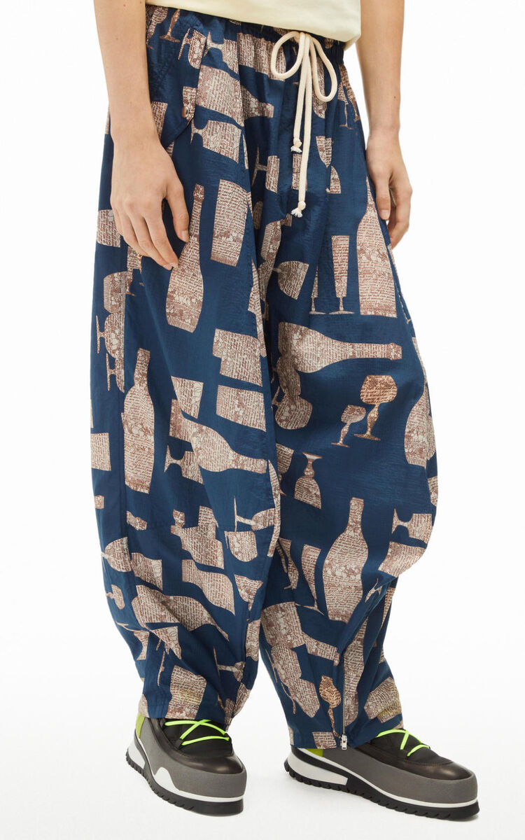 MIDNIGHT BLUE 'Cocktails' jogging trousers for women KENZO