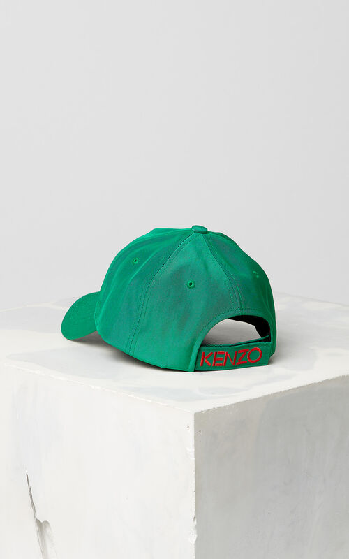 GRASS GREEN Tiger Canvas Cap for unisex KENZO