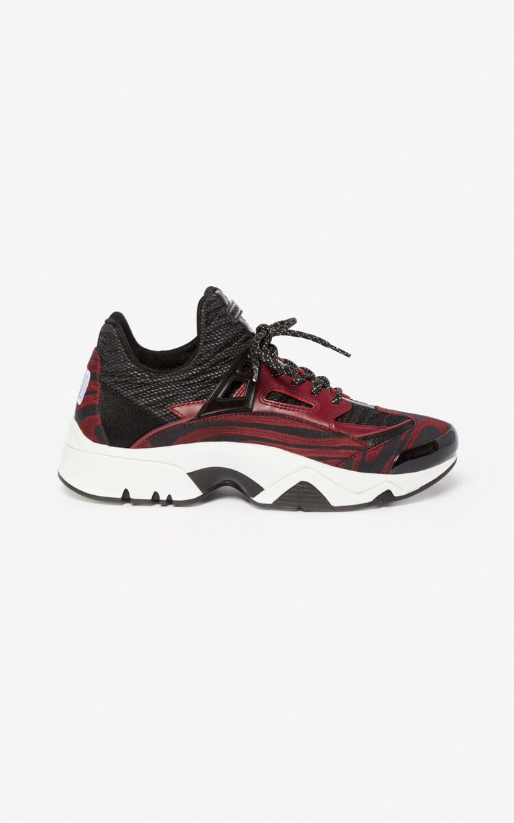 BORDEAUX Sonic 'Moire Tiger' sneakers for unisex KENZO