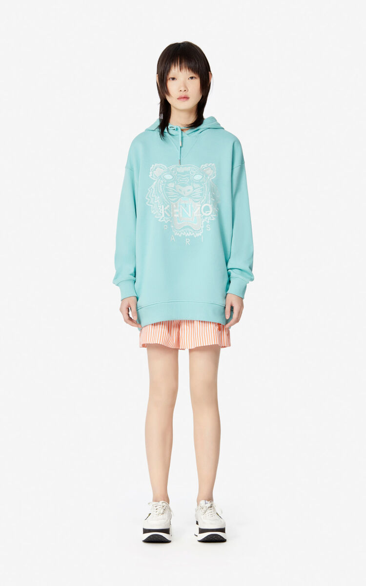 AQUA Tiger hooded sweatshirt for women KENZO