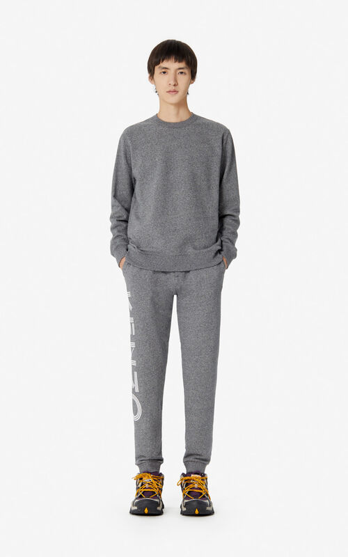 ANTHRACITE KENZO Logo joggers  for women