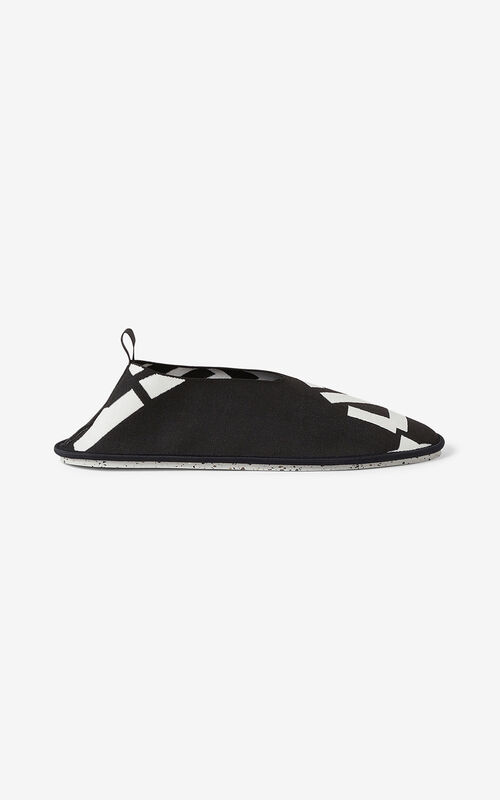 BLACK KENZO Sport K-Knit loafers for unisex