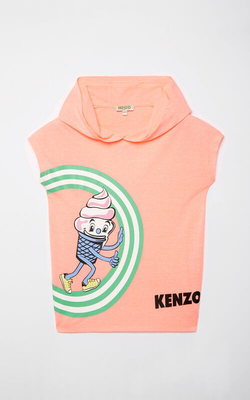 CORAL 'Food Fiesta' hooded t-shirt for women KENZO