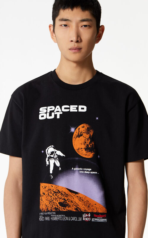 BLACK 'Spaced out' t-shirt for men KENZO