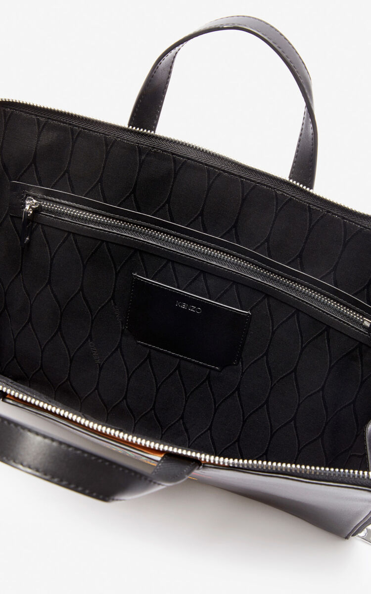 BLACK 'Jumping Tiger' briefcase for unisex KENZO