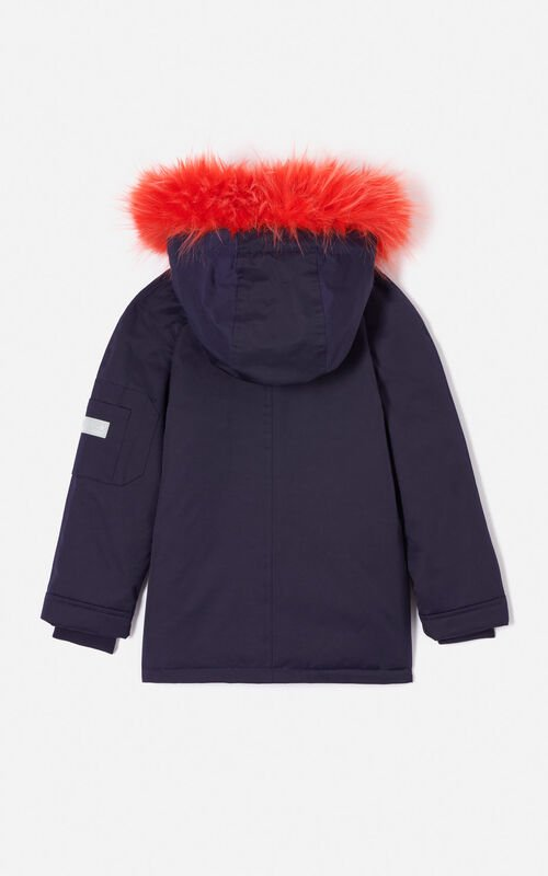 NAVY BLUE 'Frozen' Puffa parka for women KENZO