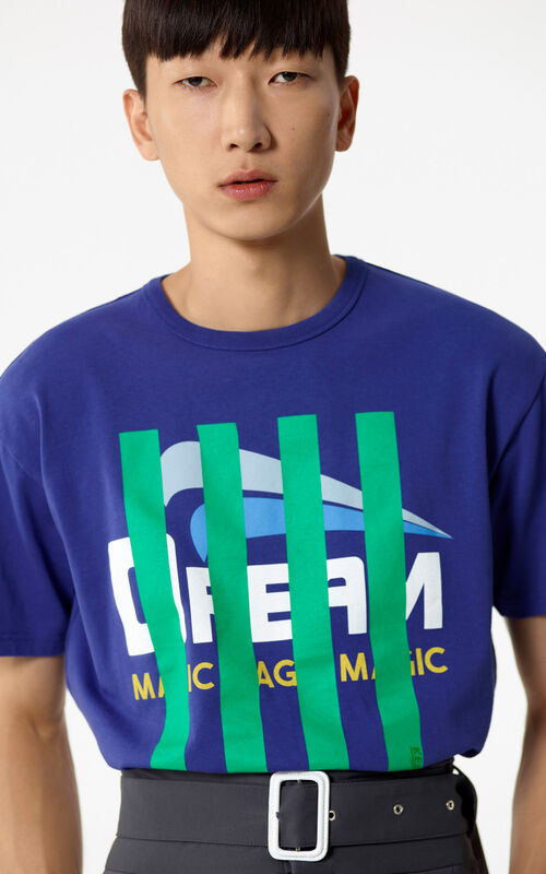 FRENCH BLUE Striped 'Dream' T-shirt for men KENZO