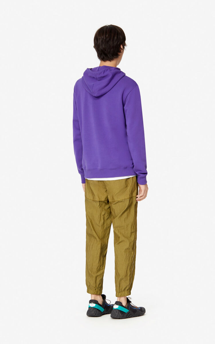 AUBERGINE Tiger hooded sweatshirt for men KENZO