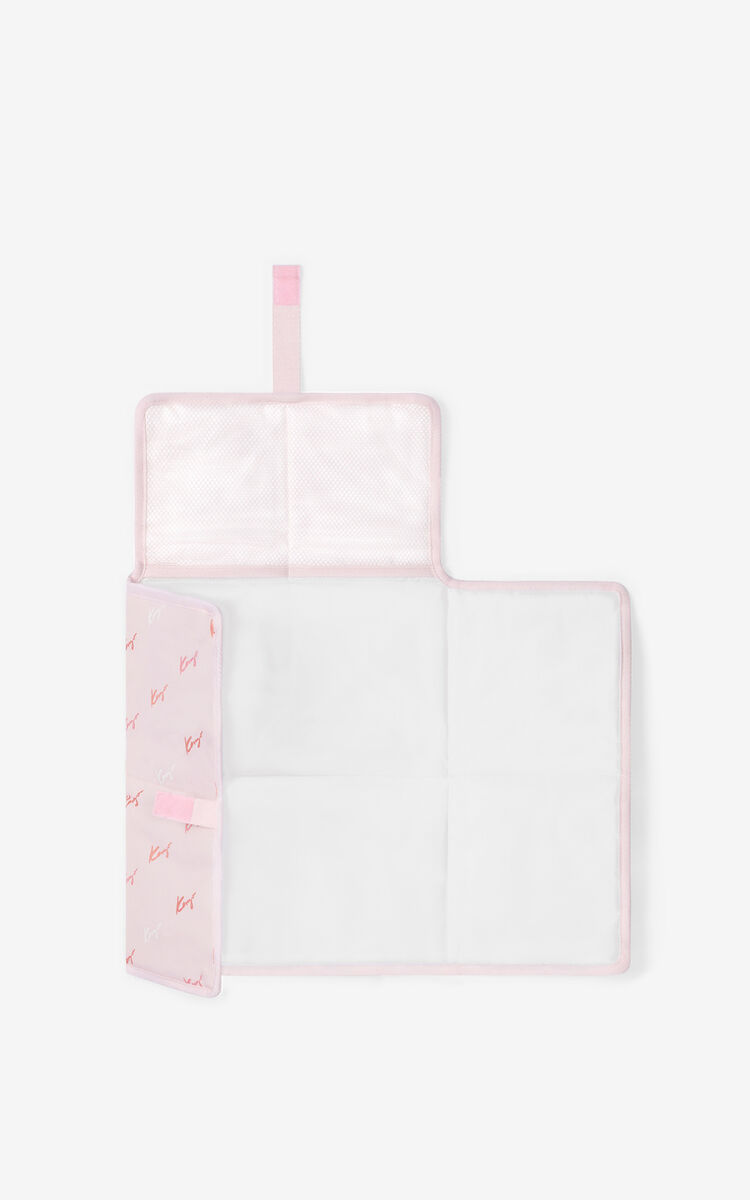 FADED PINK Diaper bag and mat for unisex KENZO