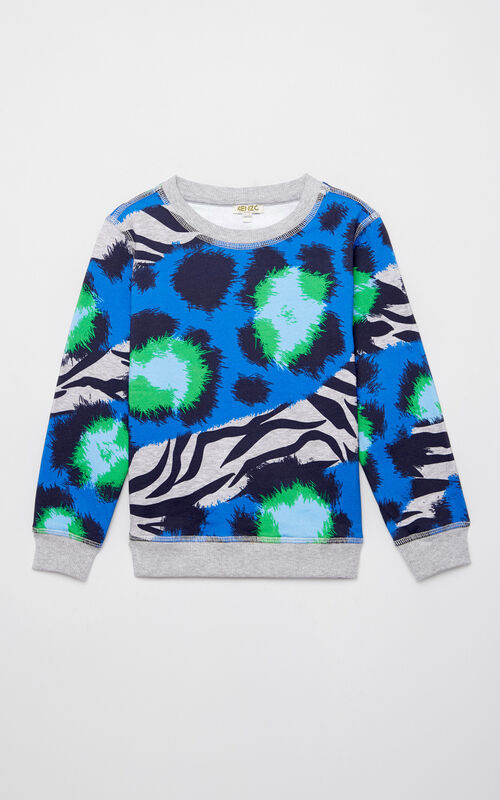 MIDDLE GREY 'Tiger Stripes' sweatshirt for women KENZO