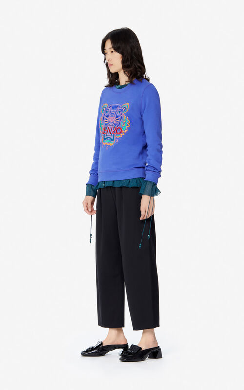 AUBERGINE Tiger sweatshirt for women KENZO