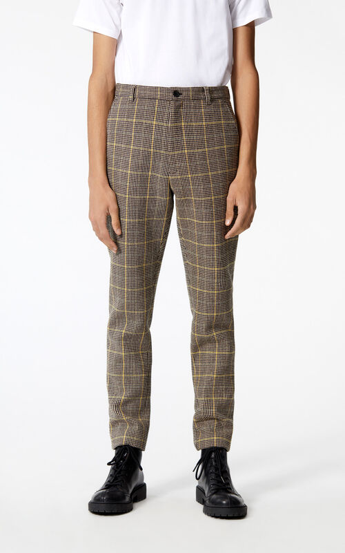 PALE CAMEL 'Harris' check trousers for women KENZO