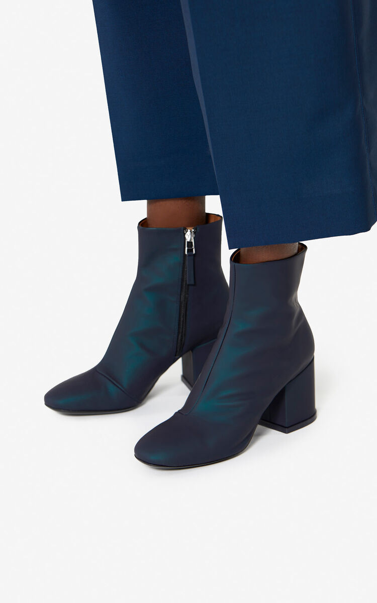 NAVY BLUE Daria ankle boots  'Holiday Capsule' for unisex KENZO