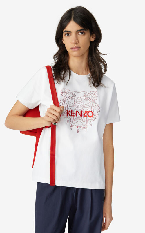 WHITE 'Chinese New Year Capsule' Tiger loose-fitting T-shirt for women KENZO