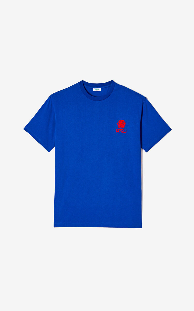 FRENCH BLUE 'Roses' T-shirt for women KENZO
