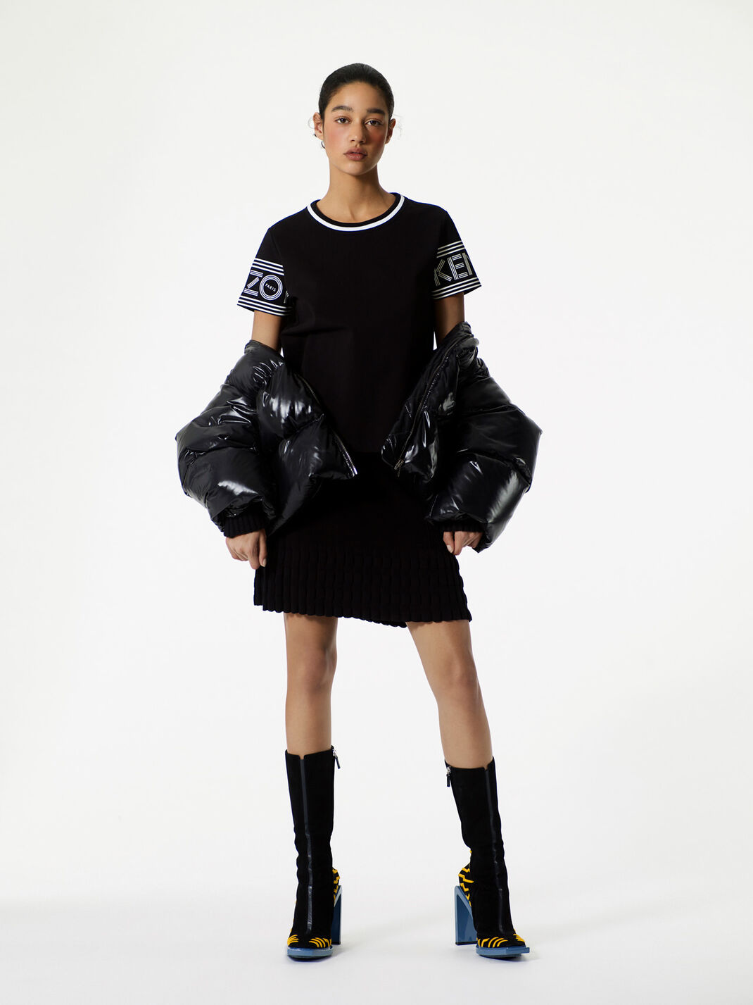 BLACK Knitted skirt  for women KENZO