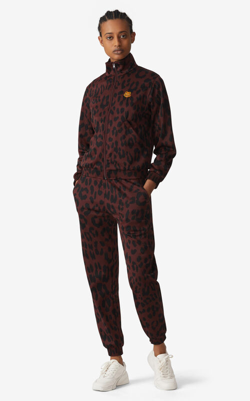 BORDEAUX 'Leopard' zipped jacket for women KENZO