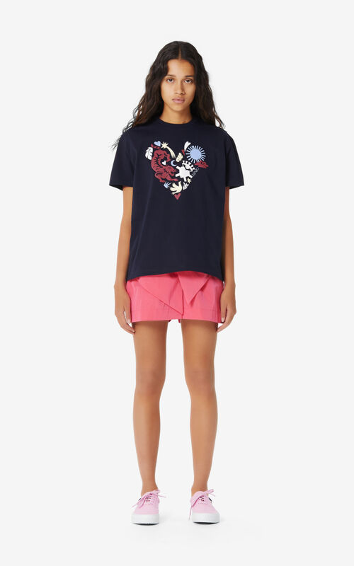 MIDNIGHT BLUE 'Lucky Star' T-shirt for women KENZO