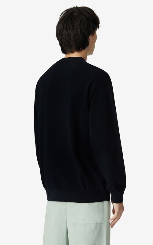 BLACK K-Tiger oversized jumper for men KENZO