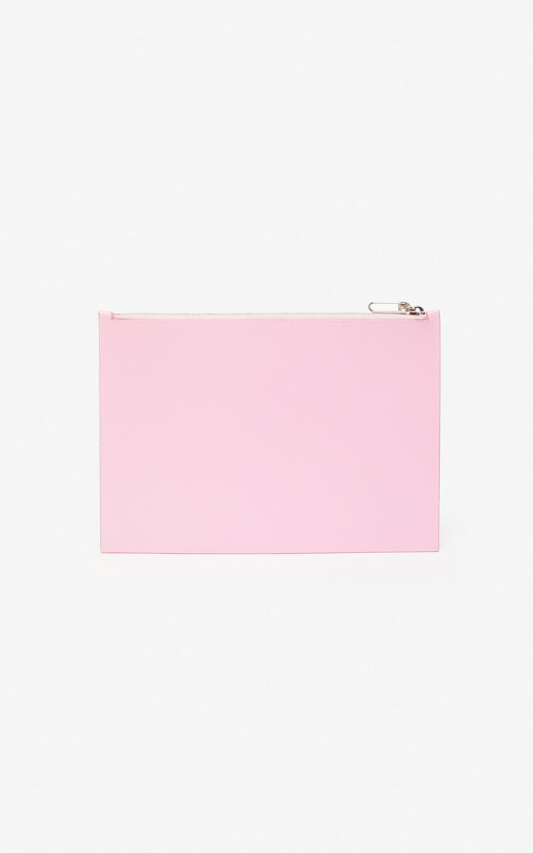 FLAMINGO PINK A4 'Cupid' pouch for unisex KENZO