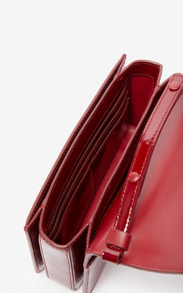 VERMILLION K-Bag Chainy patent bag 'Exclusive Capsule' for unisex KENZO