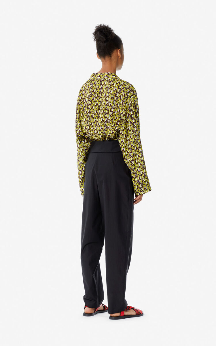 BLACK High-waisted trousers for global.none KENZO