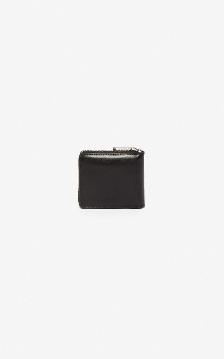 BLACK Eye leather wallet for women KENZO