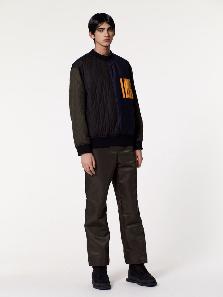 NAVY BLUE Quilted sweatshirt for men KENZO