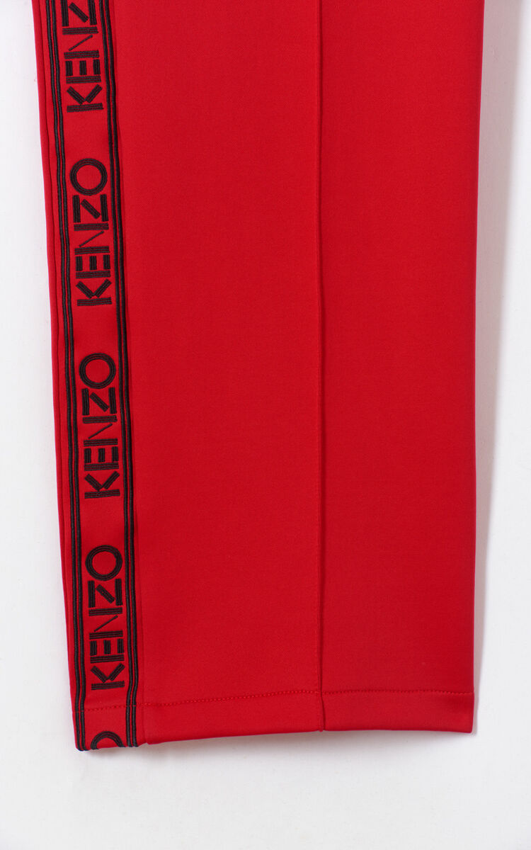 MEDIUM RED KENZO logo jogging trousers for women
