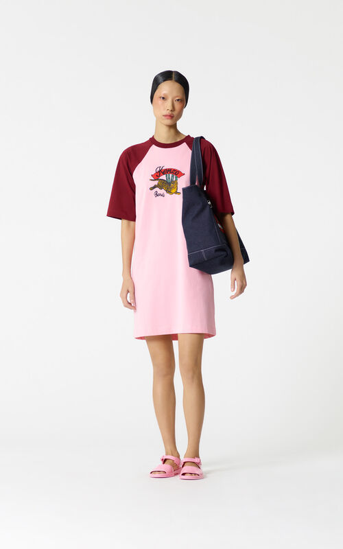 FLAMINGO PINK 'Bamboo Tiger' t-shirt dress for women KENZO